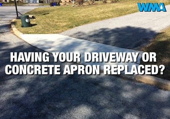 Driveway or concrete apron replacement?